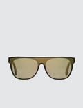 Super By Retrosuperfuture Flat Top Forma Gold Sunglasses Picture