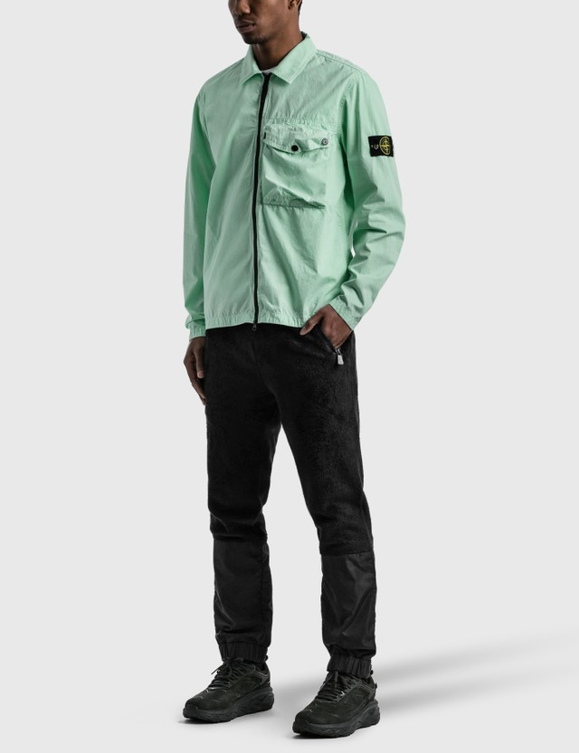 Stone Island Zip Pocket Overshirt Aqua Men