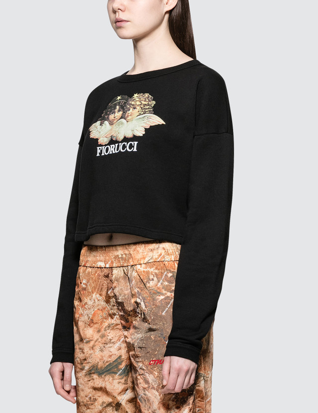 Fiorucci Vintage Angels Italian Cropped Sweatshirt