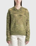 TheOpen Product V-neck Color Blended Sweater Picture