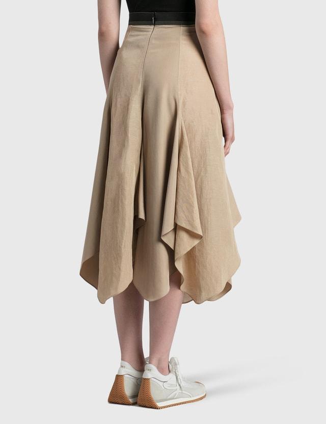 Loewe Petal Hem Skirt Black/taupe Women