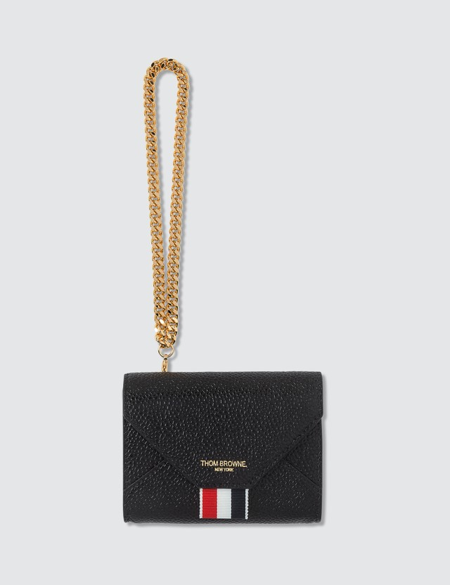 Thom Browne Pebbled Short Envelope Wallet