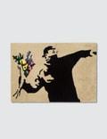"Medicom Toy Sync.-Brandalism ""Flower Bomber"" Square Rug Mat Picture"