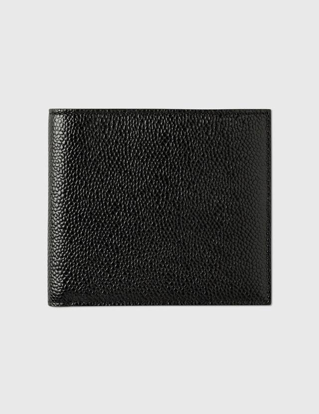 Thom Browne Billfold Wallet in Pebble Grain Black Men