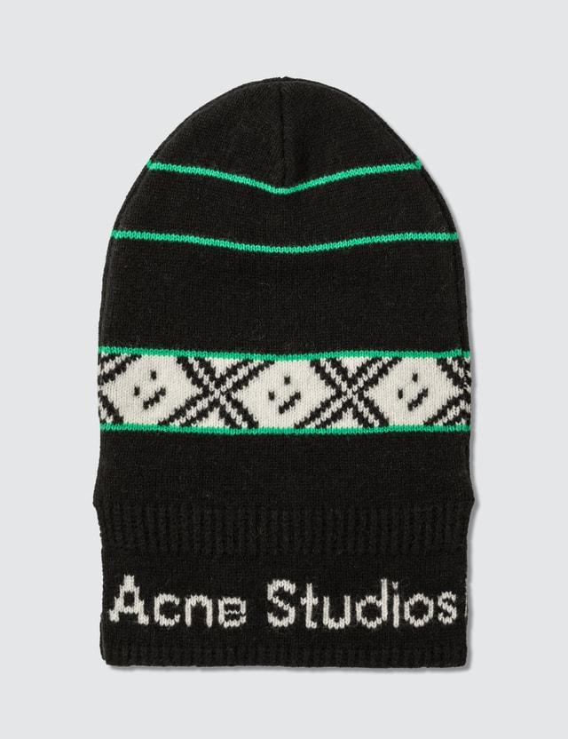Acne Studios Logo Jacquard Balaclava