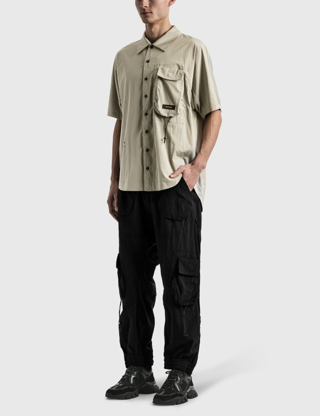 Tobias Birk Nielsen Box Chest Pocket Tech Shirt Faded Light Green Rd Men