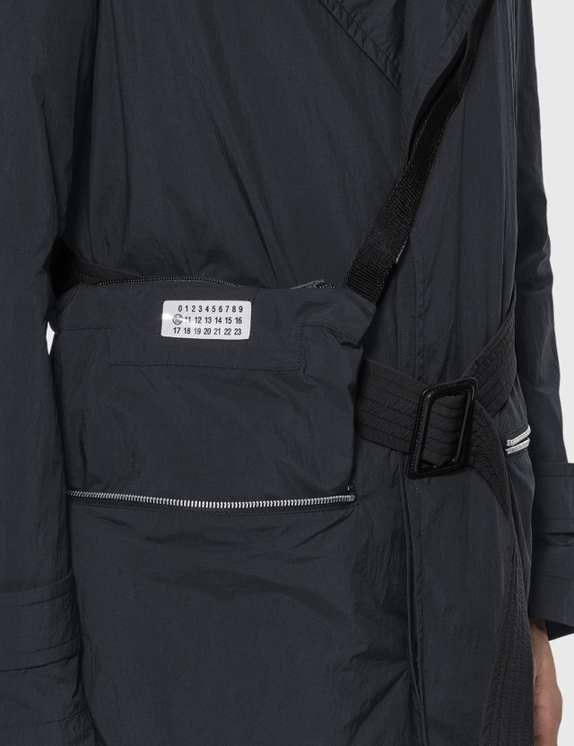 Maison Margiela Recycled Nylon Trench Coat Black Men