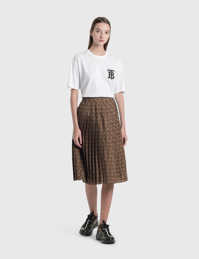 Burberry Monogram Motif Cotton Oversized T-shirt White Women