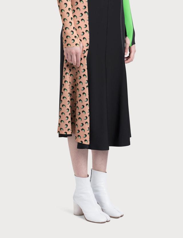Marine Serre Contrast Side Skirt