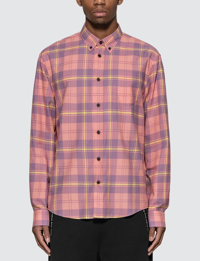 Acne Studios Waffle Check Shirt Pink/lilac Men