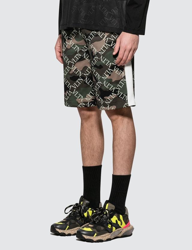 Valentino Monogram Jersey Shorts