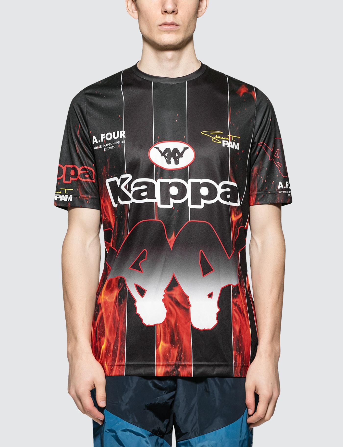 Perks and Mini P.A.M. x A.Four Labs x Kappa Sublimation Football Shirt