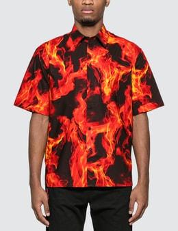 MSGM Flame Print Shirt