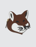 Maison Kitsune Leather Fox Head Coin Purse Picutre