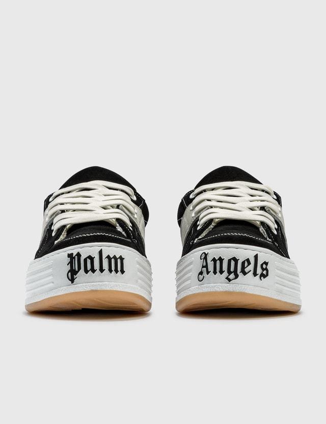 Palm Angels 로고 프린트 로우 탑 스니커즈 Black Men