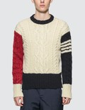 Thom Browne Cable Knit Crewneck Sweater Picutre
