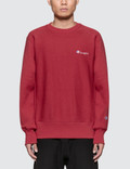 Champion Reverse Weave Back Script Logo Sweatshirt Picture