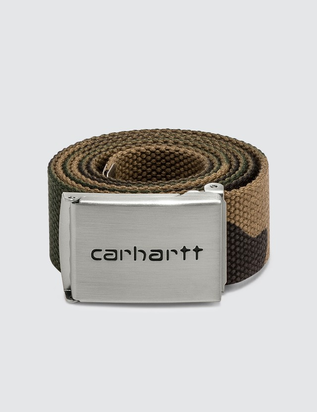 Carhartt Work In Progress Clip Belt Chrome Camo Laurel Men