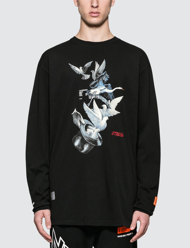 Heron Preston Herons Doves L/S T-Shirt