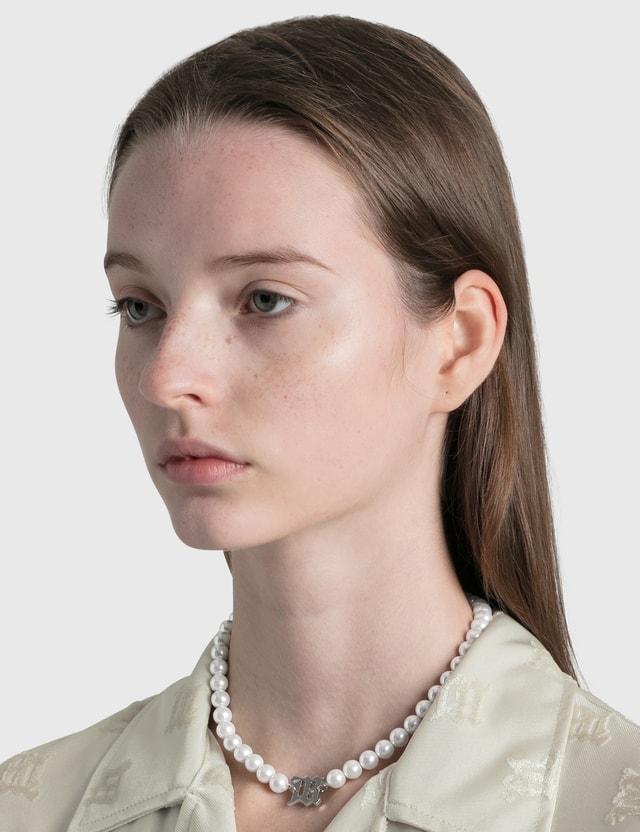 Misbhv Pearl Elastic Choker White Women