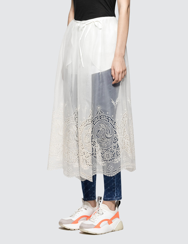 Stella McCartney Silk Lace Skirt Vintage White Women
