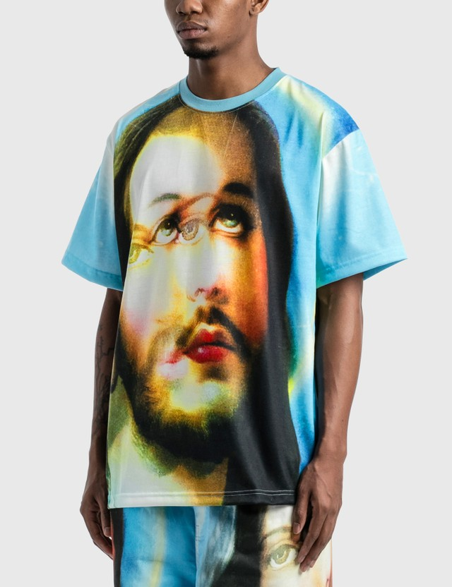 Pleasures Holy Heavyweight T-Shirt Blue Men