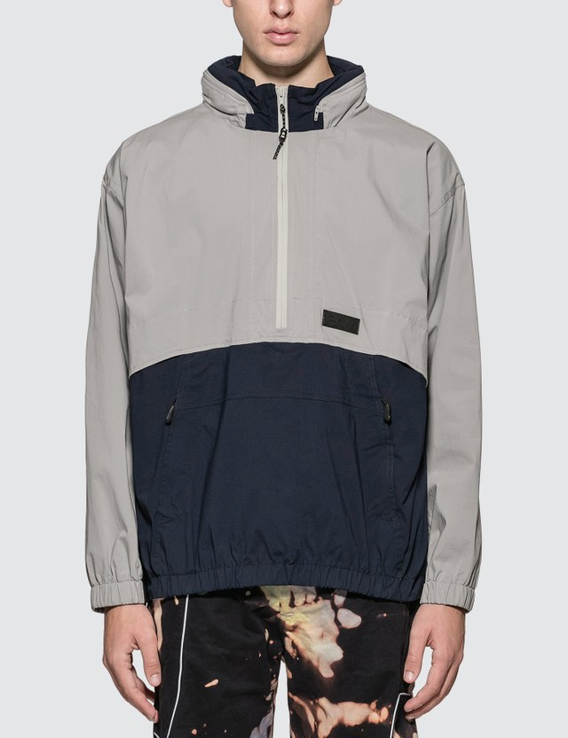 Perks and Mini B.T.C. Time Folds Shell Jacket Navy/grey Men