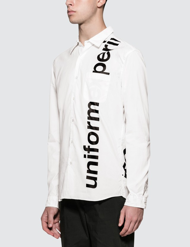 uniform experiment Graffiti Regular Collar Shirt