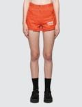 MSGM Devore' Solid Color Bull Denim Shorts Picture