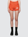 MSGM Devore' Solid Color Bull Denim Shorts Picture
