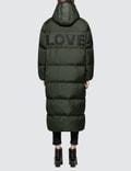 Katharine Hamnett Duvetica X Katharine Hamnett Full Length Oversized Puffa Coat With Love Slogan Picture