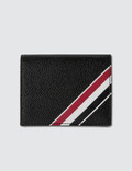 Thom Browne Double Card Holder W/ RWB GG Diagonal Intarsia Stripe In Pebble Grain Picture