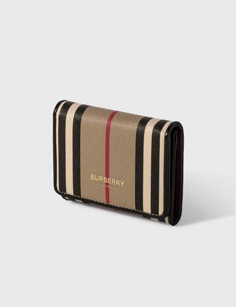 버버리 Burberry Icon Stripe E-canvas ID Card Case