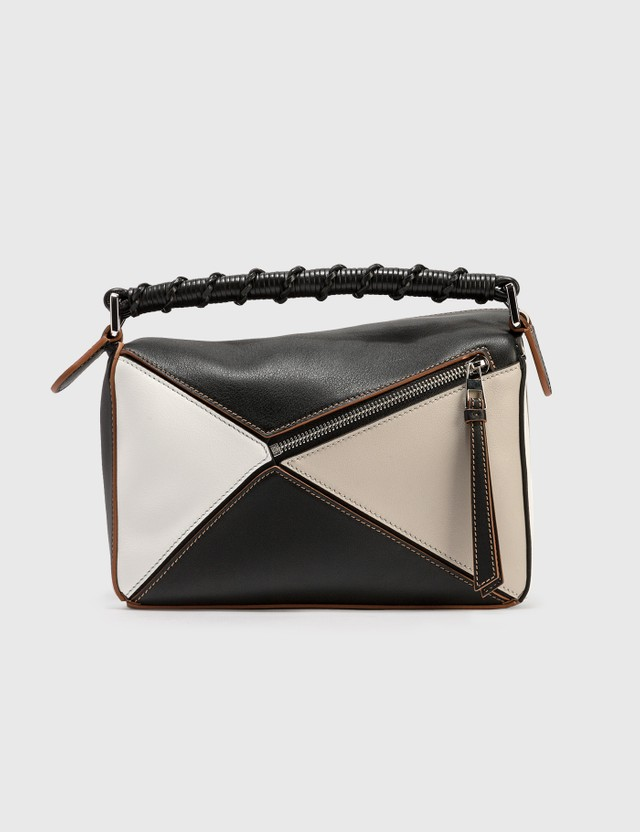 Loewe Small Puzzle Bag Light Oat/black Women