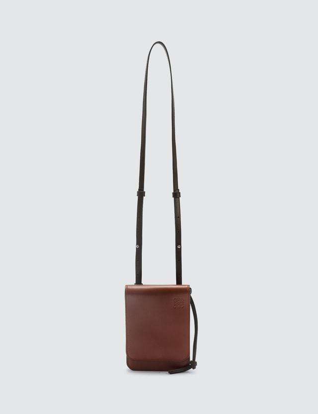Loewe Gusset Flat Crossbody Bag Cognac Men