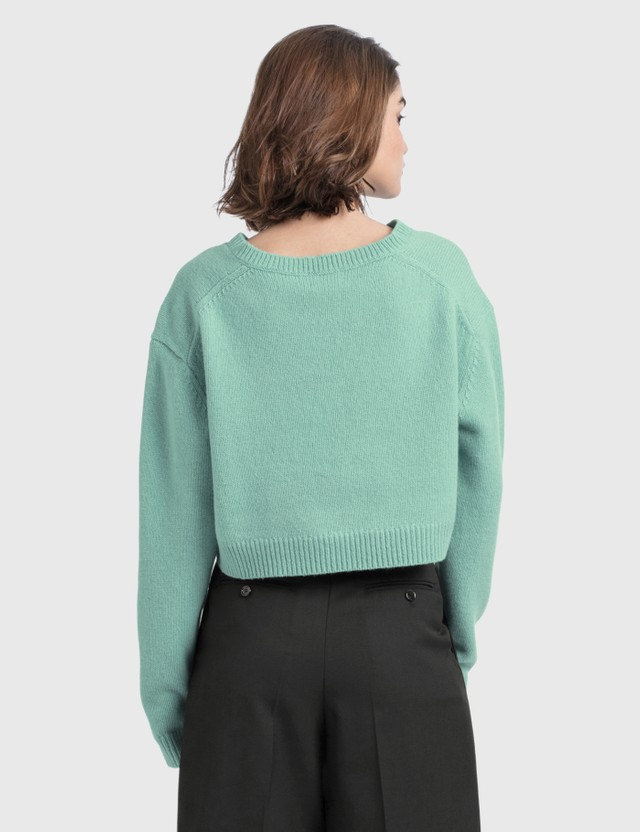 Acne Studios Kadienne Shetland Crop Knit Dusty Blue Women