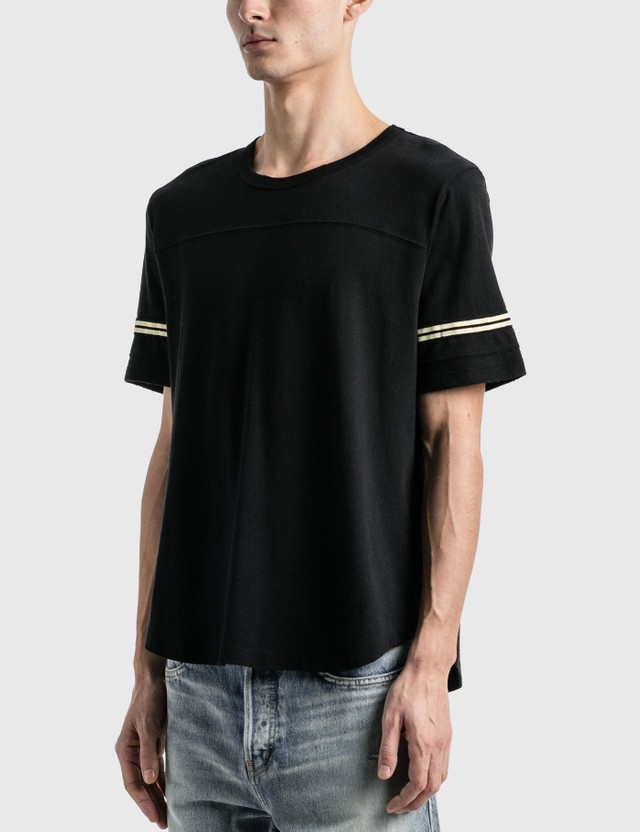 Saint Laurent Saint Laurent 50's Signature Destroyed T-Shirt Noir/naturel Men