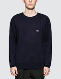 Maison Kitsune Virgin Wool R-Neck Pullover Picture