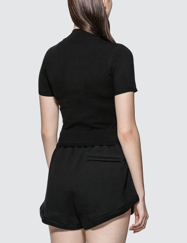Alexander Wang.T Foundation Bodycon Short Sleeve  Mock Neck Top