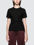 Alexander Wang.T Highwaist Jersey T-Shirt with Twist Front Detail 사진