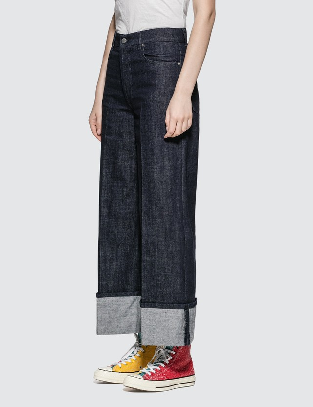 JW Anderson Turn Up Cuff Straight Leg Jeans