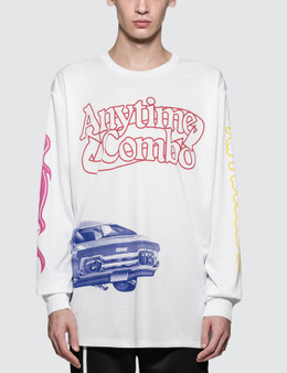 CALVIN KLEIN JEANS EST.1978 Car And Bull Print L/S T-Shirt