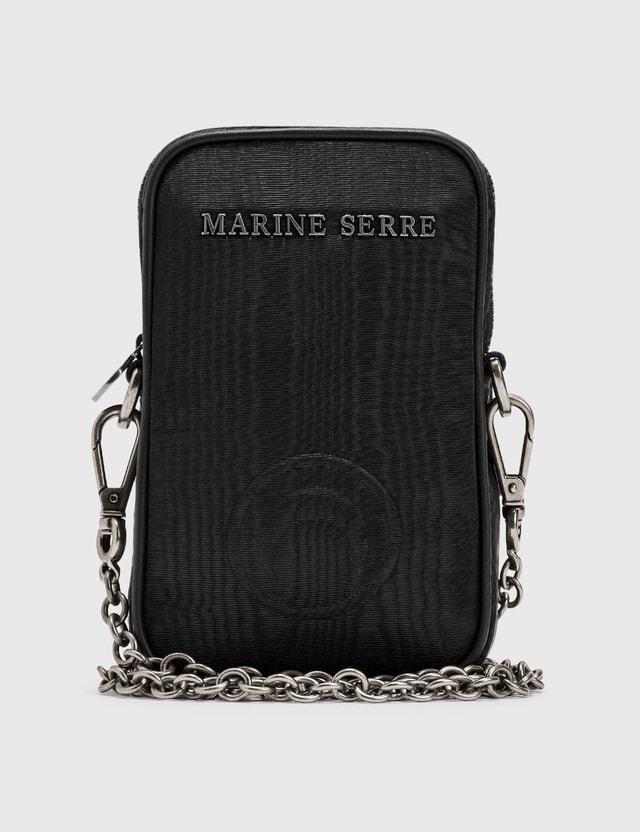 Marine Serre Logo Phone Pouch 00 Black Women