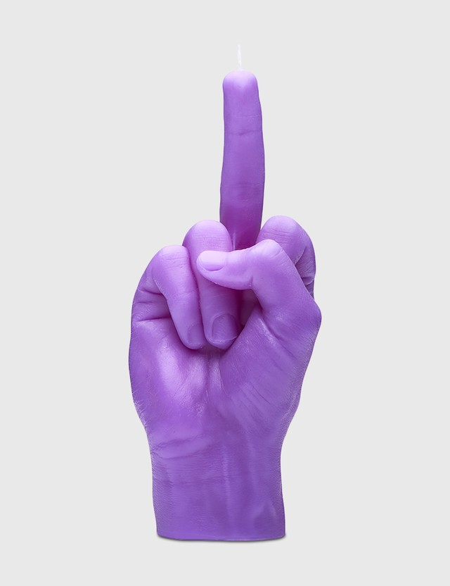 Candle Hand F*CK YOU Candle Purple Unisex