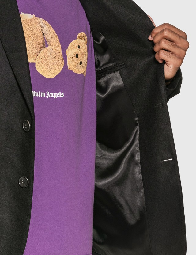 Palm Angels Logo Blazer Black Men