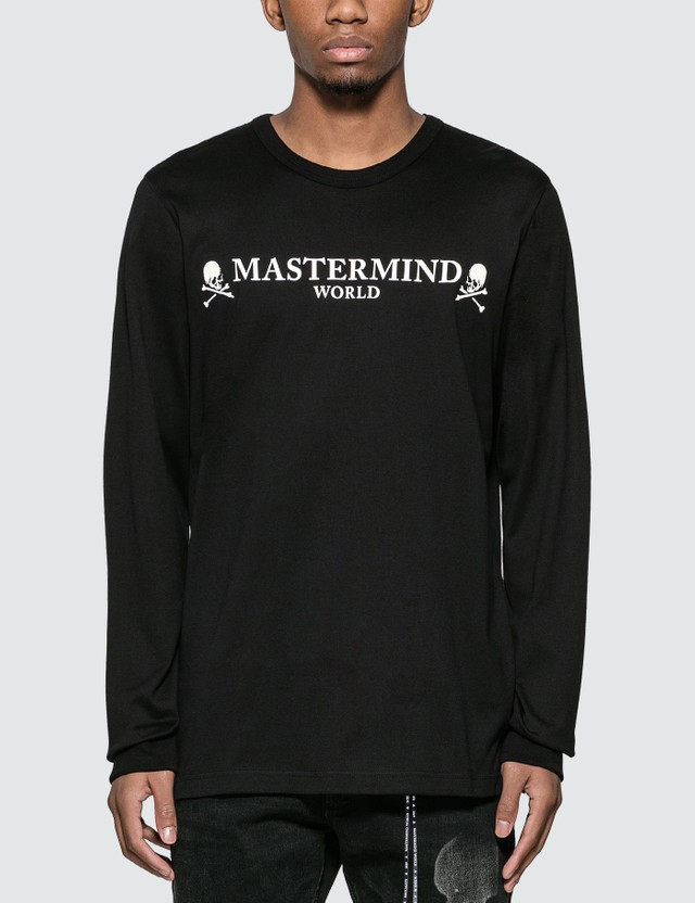 Mastermind World Logo Print Long Sleeve T-Shirt
