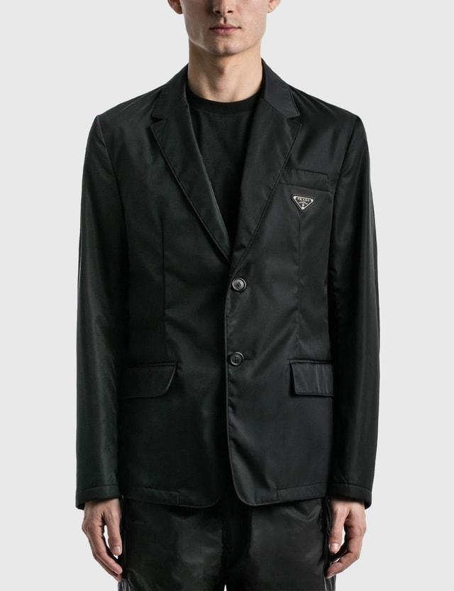 Prada Re-Nylon Single-breasted Jacket Nero Men