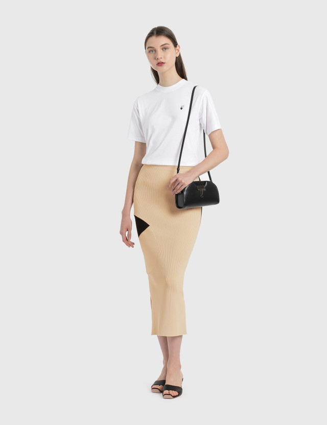 Off-White Knitted Midi Skirt