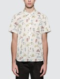 Maison Kitsune All-Over Scooter S/S Shirt Picture