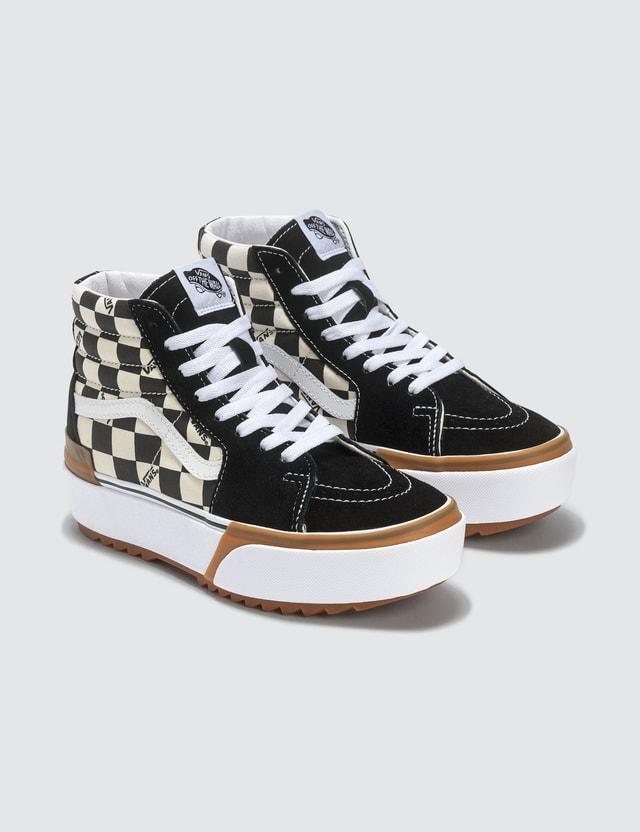 Vans SK8-Hi Stacked (checkerboard) Multi/true White Women